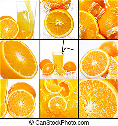 コラージュ, 別, オレンジ