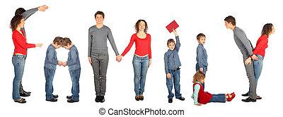 コラージュ, 単語, 家族