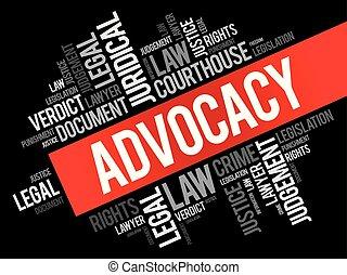 コラージュ, 単語, advocacy, 雲