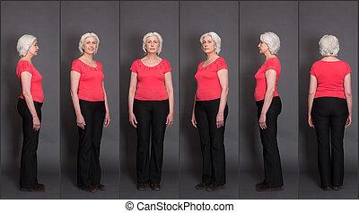コラージュ, 年長の 女性