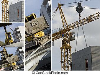 コラージュ, 建設機械