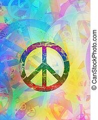コラージュ, 抽象的, 平和, -, 背景, textured