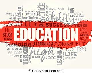 コラージュ, 教育, 単語, 雲