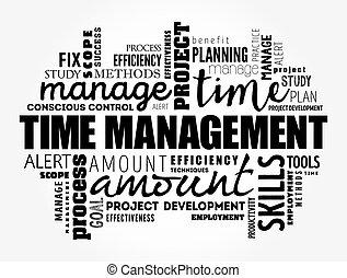 コラージュ, 時間, 雲, 管理, 単語
