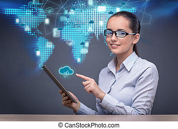 コラージュ, 概念, 技術, 雲, 計算
