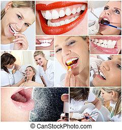 コラージュ, 歯医者の, 化粧品の 処置