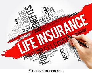 コラージュ, 生活, 単語, 雲, 保険, ヘルスケア