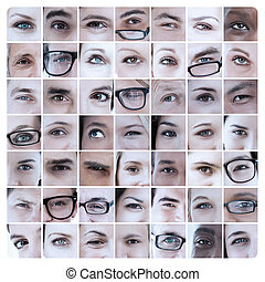 コラージュ, 目, 映像