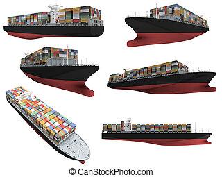 コラージュ, 船, 隔離された
