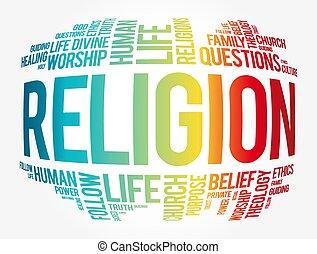 コラージュ, 雲, 宗教, 単語