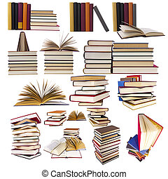 コレクション, そして, セット, の, 本