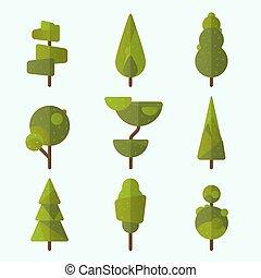 コレクション, の, 木