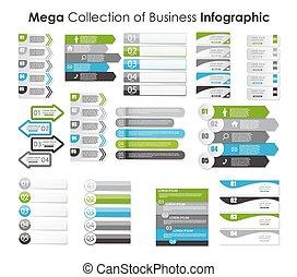 コレクション, の, infographic, テンプレート, ∥ために∥, ビジネス, ベクトル, イラスト