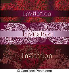 コレクション, カード, 招待