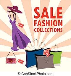 コレクション, ファッション, セール