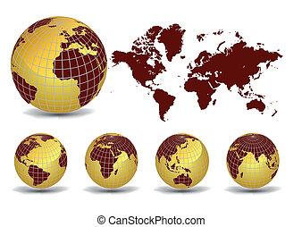 コレクション, 地球, 地球儀