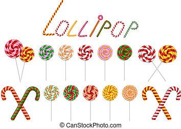 コレクション, 杖, lollipop, キャンデー