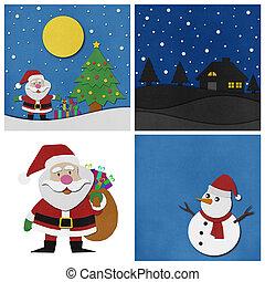 コレクション, 背景, クリスマス,  papercraft