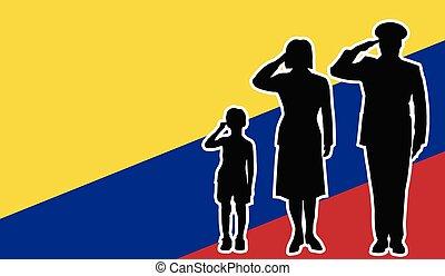 コロンビア, 兵士, 家族, 挨拶