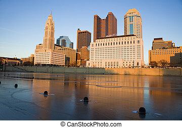 コロンブス, オハイオ州, -, 冬, 午後