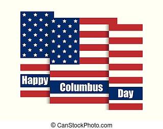 コロンブス, 合併した, 発見者, flag., 国民, 日, イラスト, 州, america., ベクトル, 休日, 旗
