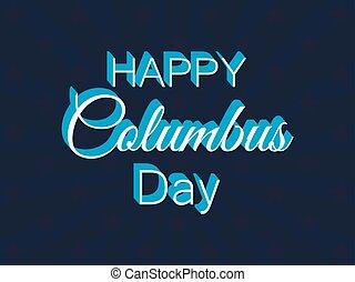 コロンブス, 発見者, テキスト, 日, イラスト, america., ベクトル, 休日, 旗, rays., 幸せ
