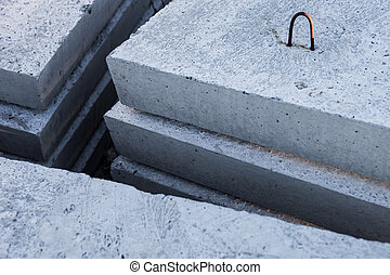 コンクリートブロック, 山