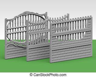 コンクリート, フェンス