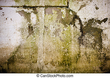コンクリート, 古い, 汚い, wall.