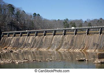 コンクリート, 大きい, 水力電気 ダム