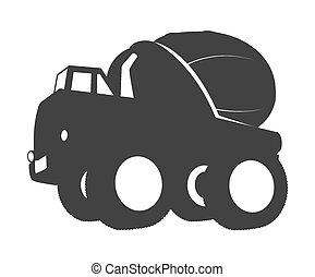 コンクリート, 形, トラック, ミキサー