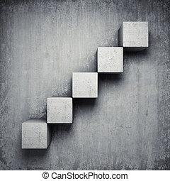 コンクリート, 抽象的, 階段