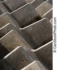コンクリート, 抽象的, 障壁