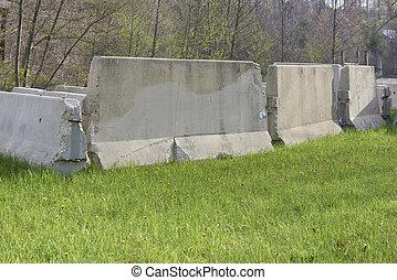 コンクリート, 障壁