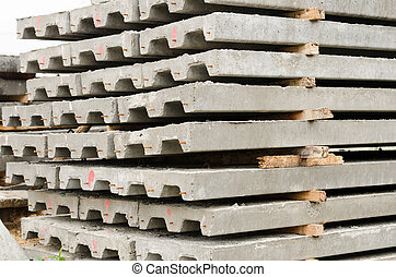 コンクリート, slabs.