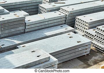 コンクリート, slabs., 製造, 生産, 補強された