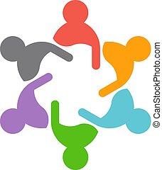 コンサルタント, チームワーク, conferencevectorillustration, ビジネス