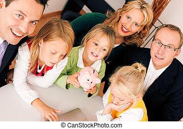 コンサルタント, 金融, 保険, -, 家族