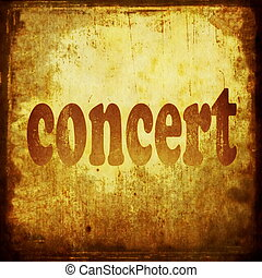 コンサート, 単語, 音楽, 背景