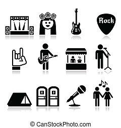 コンサート, 生の音楽, 祝祭, アイコン
