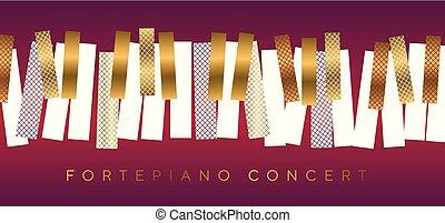 コンサート, 金, 音楽, 贅沢, 招待, 赤