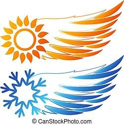 コンディション調整, 空気, 雪片, 翼, 太陽