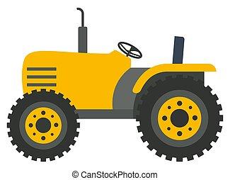 コンバイン, ベクトル, 収穫機, イメージ, トラクター, 黄色