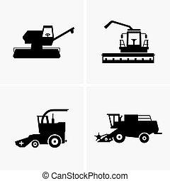 コンバイン, 収穫機