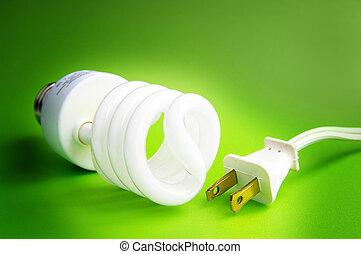 コンパクト, ライト, プラグ, 電球, 蛍光