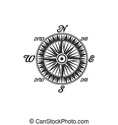 コンパス, 型, シンボル, 印