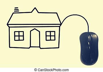コンピュータマウス, そして, 家, 概念