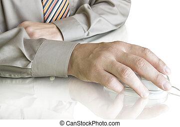 コンピュータマウス, 手
