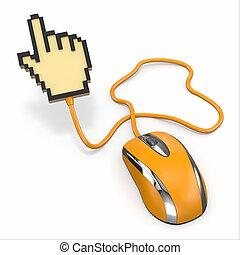 コンピュータマウス, cursor., 3d