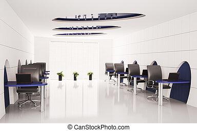 コンピュータ, オフィス, 3d